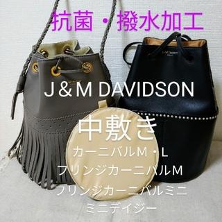 ジェイアンドエムデヴィッドソン(J&M DAVIDSON)のフリンジカーニバルミニ底板 中敷きベージュ(ハンドバッグ)
