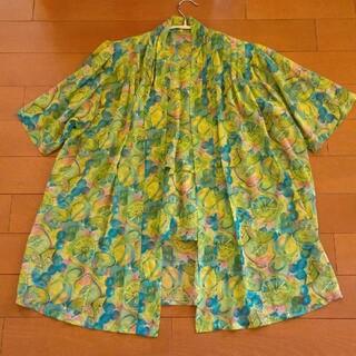 サンタモニカ(Santa Monica)の古着屋 vintage フルーツ柄 アンサンブル(シャツ/ブラウス(半袖/袖なし))