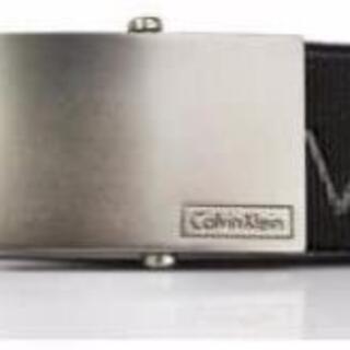 Calvin Klein - 新品 日本未発売 カルバンクライン CKロゴプリント入りベルト S