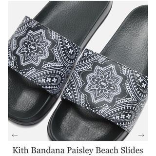 シュプリーム(Supreme)のKith Bandana Paisley Beach Slides キース(サンダル)