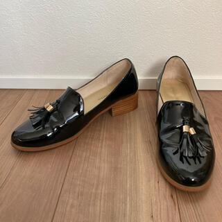 オリエンタルトラフィック(ORiental TRaffic)のoriental traffic パンプス ブラック黒 38 エナメル タッセル(ローファー/革靴)