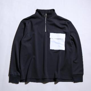 MBテックカットソー(ハーフジップ) ホワイト(Tシャツ/カットソー(七分/長袖))