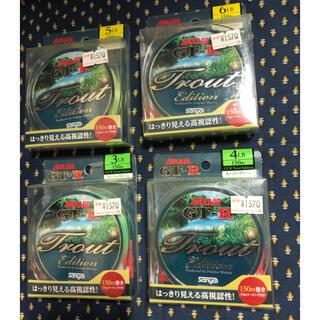 サンヨー(SANYO)のサンヨー ライン GT-R トラウト エディション 150m 4個 釣り糸(釣り糸/ライン)