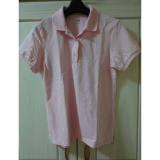 ユニクロ(UNIQLO)のユニクロ ポロシャツ ペールピンク Mサイズ 新品未使用 人気(ポロシャツ)