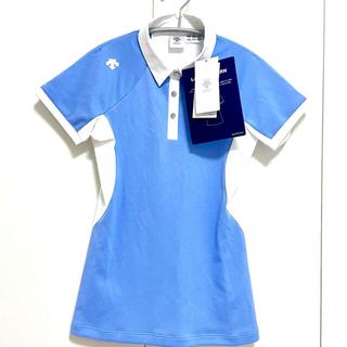 DESCENTE - タグ付き未使用☆デサントゴルフ ポロシャツ S ブルー