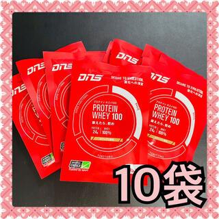 ディーエヌエス(DNS)のDNS プロテインホエイ100 カフェオレ風味 35g 10袋 (プロテイン)