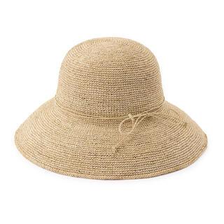 ムジルシリョウヒン(MUJI (無印良品))の新品未使用 無印良品 ラフィア つば広帽子 生成(麦わら帽子/ストローハット)