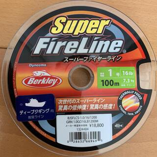 バークレー(BARCLAY)の新品 バークレイ スーパーファイヤーライン 1.0号 100m  PE グリーン(釣り糸/ライン)