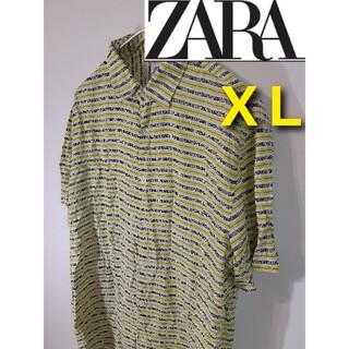 ZARA - 【ZARA】レモネードシャツ/半袖/レーヨン/ザラ/ビッグサイズ