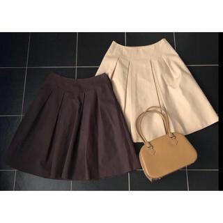 ハロッズ(Harrods)の【Harrods】ハロッズ スカート2枚セットで サイズ3 ベージュとブラウン(ひざ丈スカート)