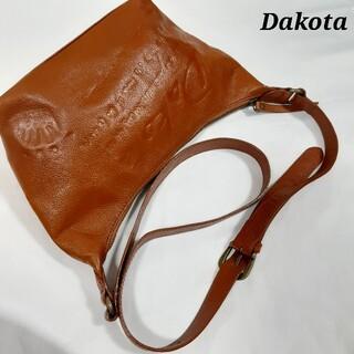 ダコタ(Dakota)の美品 Dakota ダコタ ショルダーバッグ プルト ブラウン 牛革 レザー(ショルダーバッグ)