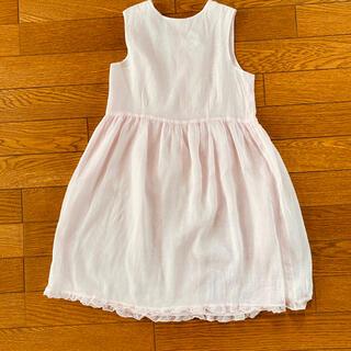 Bonpoint - 【美品】ボンポワン 桜色のドレス ワンピース ピンク 6 8 ガーゼ コットン