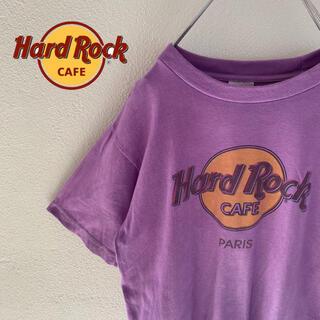 ロックハード(ROCK HARD)の【HardRockCafe】ハードロックカフェ paris ロゴ入りtシャツ(Tシャツ/カットソー(半袖/袖なし))