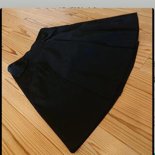 ハロッズ(Harrods)のハロッズ スカート 膝丈 サイズ3 ブラック 光沢(ひざ丈スカート)