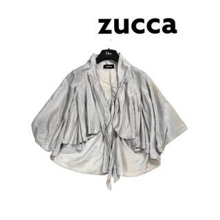 ZUCCa - ZUKKA ズッカ 羽織り ボレロ ブラウス シャツ グレー シルク