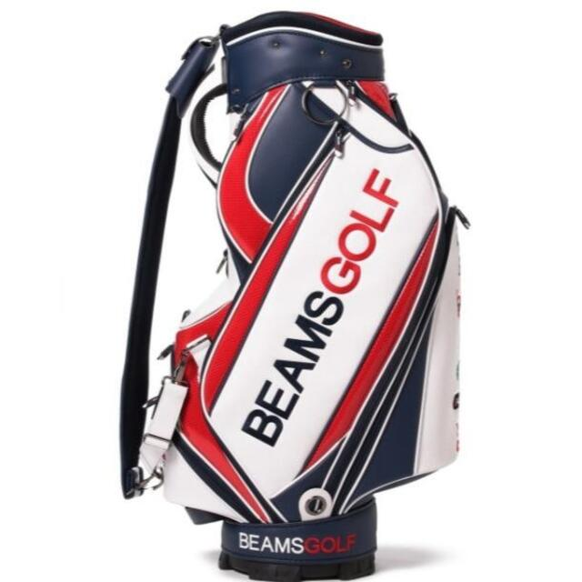 BEAMS(ビームス)のBEAMS GOLF / new ツアー プロ キャディバッグ レッド×ネイビー スポーツ/アウトドアのゴルフ(バッグ)の商品写真