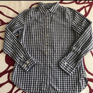 ムジルシリョウヒン(MUJI (無印良品))の無印 オーガニックコットンチェックシャツ(シャツ/ブラウス(長袖/七分))