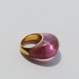 イエナ(IENA)のLUCAS JACK カラーレジンリング 13号 パープル ルーカスジャック(リング(指輪))