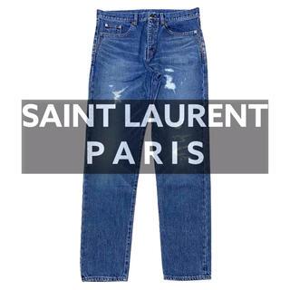 Saint Laurent - 新品【サンローランパリ】クラッシュ デニム 2018 イブサンローラン エディ