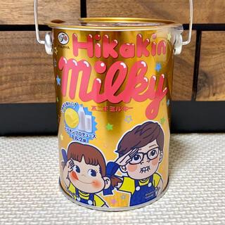 フジヤ(不二家)のペコちゃん ヒカキン ナムコ 未開封品 不二家ミルキー ヒカキンペール缶(キャラクターグッズ)