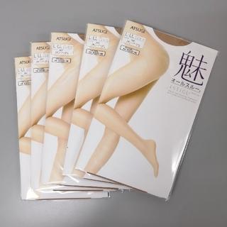 アツギ(Atsugi)のアツギ 5足 魅 オールスルー スキニーベージュ L-LL(タイツ/ストッキング)