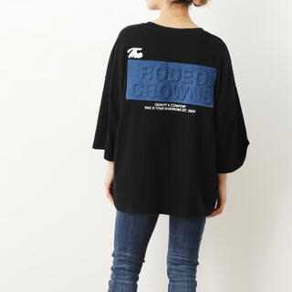 RODEO CROWNS WIDE BOWL - デニムエンボスパッチTシャツ