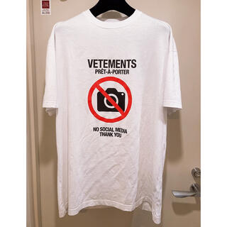 Balenciaga - 【即完売品】VETEMENTS ANTI SOCIAL ロゴ Tシャツ L