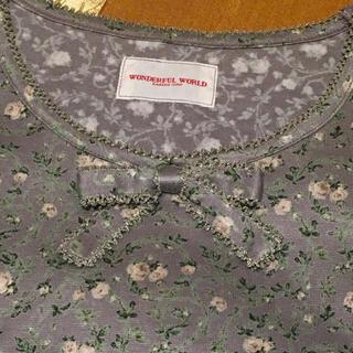 ワンダーワールド(Wonderworld)のワンダフルワールド Tシャツ 長袖 小花パープル(Tシャツ(長袖/七分))