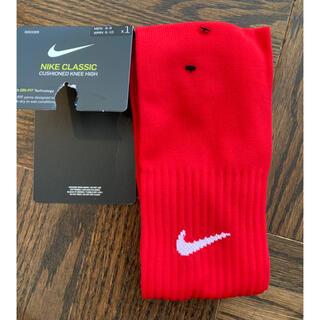 ナイキ(NIKE)の新品★NIKE ナイキ サッカー 靴下 赤 Mサイズ(23-25cm) 未使用(その他)