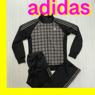 adidas - adidas(アディダス) レディース ジャージ上下 ブラック×シャープグレー