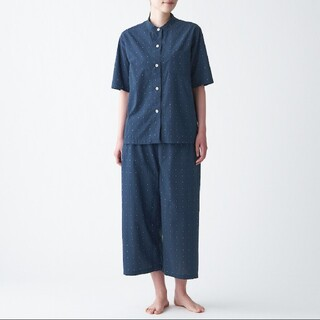 MUJI (無印良品) - 脇に縫い目のない ジャガードパジャマ L~XL