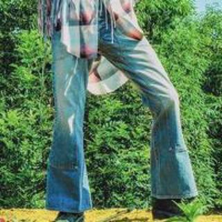 ジョンローレンスサリバン(JOHN LAWRENCE SULLIVAN)のFaded Double Knee Bell Bottom Denim (デニム/ジーンズ)
