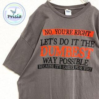 デルタ(DELTA)の【メキシコ製】古着 Tシャツ ロゴ DELTA ビッグプリント XL グレー(Tシャツ/カットソー(半袖/袖なし))