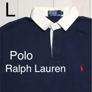 POLO RALPH LAUREN - 90's古着 Ralph Lauren ラガーポロ メンズ L ネイビー