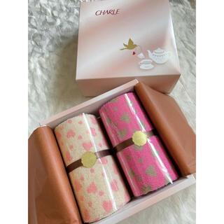シャルレ(シャルレ)のシャルレ ギフト タオル ケーキ型タオルセット ハート柄(タオル/バス用品)