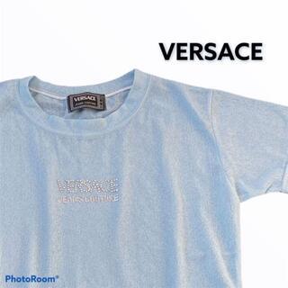 ジャンニヴェルサーチ(Gianni Versace)のVERSACE ヴェルサーチ 半袖 ライトストーン Tシャツ カットソー(Tシャツ(半袖/袖なし))