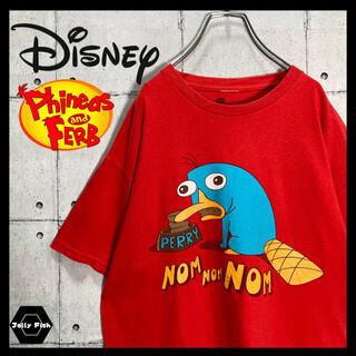 Disney - 【激レア】Disney 半袖 Tシャツ カモノハシペリー フィニアスとファーブ