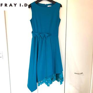 フレイアイディー(FRAY I.D)のFRAY ID  ケミカルアシメワンピース ドレス ワンピース♡結婚式等に(ひざ丈ワンピース)