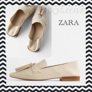 ZARA - ZARA ソフトレザータッセル付きローファー
