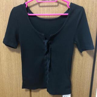 グレイル(GRL)のGRLグレイルレースアップTシャツ(Tシャツ(半袖/袖なし))