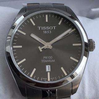 ティソ(TISSOT)の【極美品】ティソ チタニウム チタン グレー 腕時計 クォーツ(腕時計(アナログ))
