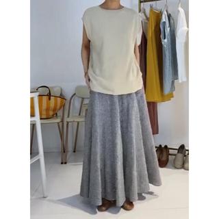 IENA SLOBE - リネンフレアースカート