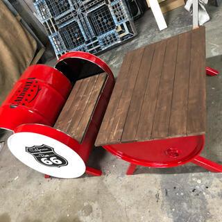 ドラム缶テーブル&ベンチ チェア 椅子