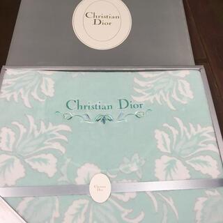 レア【新品未使用】クリスチャンディオール ブランケット シングルサイズ 緑色 綿