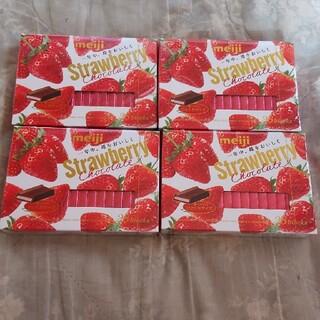 メイジ(明治)の明治 meiji ストロベリーチョコレート 26枚×4箱(菓子/デザート)