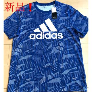 adidas - 【新品でタグ付】adidas アディダス Tシャツ❣️ ブルー サイズL❣️