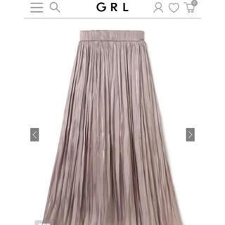 GRL - GRL 白石麻衣 サテンプリーツロングスカート[tw928]