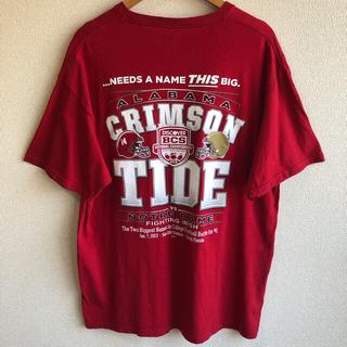 デルタ(DELTA)のアラバマ フットボール プリント Tシャツ DELTA(Tシャツ/カットソー(半袖/袖なし))