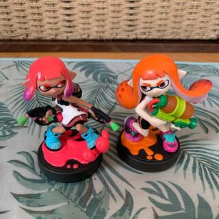 ニンテンドースイッチ(Nintendo Switch)のamiibo★スプラトゥーン★オレンジガール♡ピンクガールセット(ゲームキャラクター)