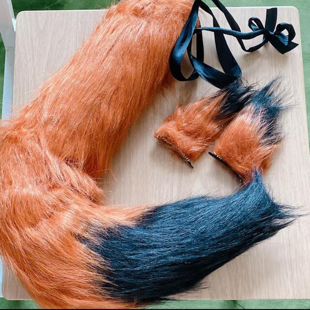 ズートピア ニック・ワイルド コスプレ 尻尾 耳 エンタメ/ホビーのコスプレ(小道具)の商品写真